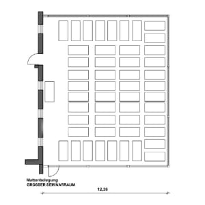 Großer Seminarraum (185m²)